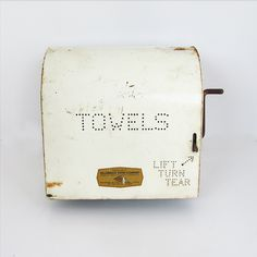 Mid Century Service Station Paper Towel Dispenser - Lots of Industrial Chic…