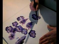 Acrylmalerei Ratgeber, Pinsel mit zwei Farben laden - Blüten und Blätter...