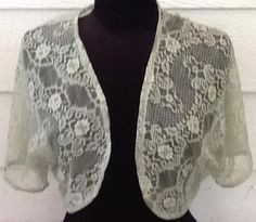 Variety of lace bolero shrug jackets from the free pattern at So Sew Easy