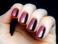 Rosie Lee & Jane Eyre (Globe & Nail) (Rosie Lee by butter LONDON over Senorita Rose-alita by OPI + Jane Eyre by A England)