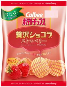 japanese culture and strawberries | Rinkya Blog: Calbee Potato Chips- Sour Plum Shrimp, Strawberry?