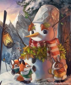 Magical Snowman (Normal) by Silverfox5213 on @DeviantArt