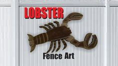 Lobster Fence Art DIY How to make