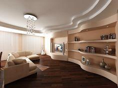Interior Design Yellow, Modern Home Interior Design, Interior Concept, Plafond Staff, Karton Design, Fabric Ceiling, Pop Ceiling Design, Model Homes, Living Room Designs