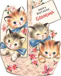 vintage - birthday card