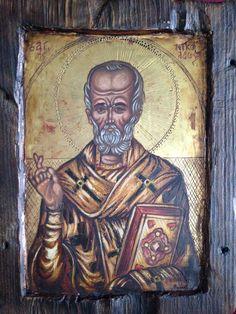 """© Babis & Flora  """"Άγιος Νικόλαος"""" """"Saint Nicholas"""" 20 x 25 cm"""