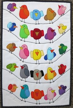 The Birds by mamacjt, via Flickr; could be a mug rug if you turned the birds around, so very cute