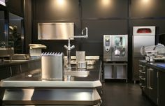 10 Awesome Industrial Kitchen Decor Designs That You Can Create For Your Urban Living Space Commercial Kitchen Equipment Essentials Commercial Kitchen Design, Commercial Kitchen Equipment, Stylish Kitchen, New Kitchen, Kitchen Decor, Kitchen Interior, Kitchen Ideas, Industrial Kitchen Design, Modern Kitchen Design