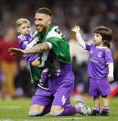 Sergio and sons Real Madrid for la Duodecima 2017 Cardiff