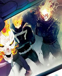 Who's your favorite Ghost Rider not named Johnny Blaze? art by Comic Book Characters, Marvel Characters, Comic Character, Comic Books Art, Comic Art, Ghost Rider Johnny Blaze, New Ghost Rider, Ghost Rider Marvel, Hq Marvel