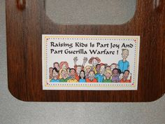 Raising Kids Refrigerator Magnet Business Card Size by Kats3meows, $4.99