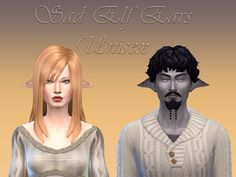Sad Elf Ears at NotEgain via Sims 4 Updates