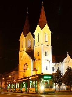 Plzeň (Pilsen) at night, West Bohemia, Czechia Central Europe, Czech Republic, Prague, North West, Notre Dame, Germany, Future, Night, City