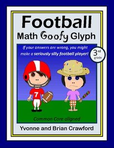 Super Bowl Football Math Goofy Glyph is an activity where students can hone their abilities in mathematics while putting together a fun art project that you can showcase on your classroom wall. Whether your students answer the questions right or wrong will dictate the way their glyphs look in this potentially silly glyph.