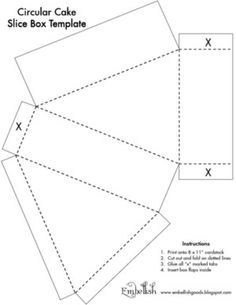 free cake box pattern download patterns for cards card bases