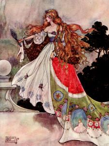 """The Flower Princess"" (The Black Princess and Other Fairy Tales from Brazil, 1916), illustrated by Florence Anderson at Spirit of the Ages"