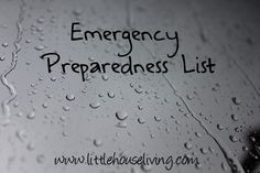 Survival Prepping. How to prepare for an emergency. Get ready for an emergency. Emergency preparedness checklist.