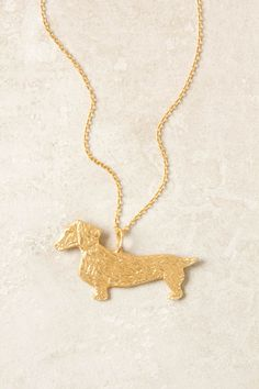 Dachshund Necklace.. i must have it.