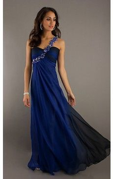 Classic One Shoulder Evening Gown LF-17164