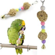 Multicolor beads bird toys pets toys bird ladder Parakeet swing drill HF SM for sale online Parakeet Toys, Parakeet Cage, Cockatiel Cage, Parrot Pet, Parrot Toys, Hamster Toys, Pet Toys, Loofah Sponge, Funny Birds