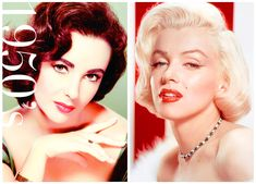 Lipstick trends Stars such as Elizabeth Taylor and Marilyn would overdraw their top lip for a fuller pout. Popular lip colours were bright reds and bright pinks.