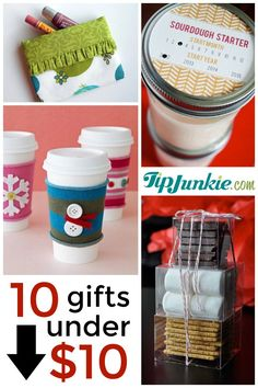 Cheap presents for Christmas under $10 to make that are useful and cool homemade gifts.