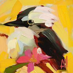 "Daily Paintworks - ""Kookaburra no. 3 Painting"" - Original Fine Art for Sale - © Angela Moulton"