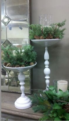 DIY plant stand is the best way to display greeneries in your home. You can put them inside or outside your house. Click to read more about DIY plant stand! Christmas Diy, All Things Christmas, Christmas Crafts, Christmas Decorations, Holiday Decor, Christmas Candles, Merry Christmas, Diy Candlesticks, Candleholders