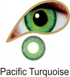 MesmerEyez Infusionz 1 Month Pacific Turquoise Contact Lenses