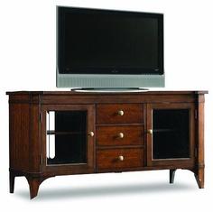 "65"" Entertainment Console, Abbott Place, Hooker Furniture    www.mkhomedesign.com"
