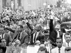 NYC. The Moon Landing, 1969. New York wellcomes Apollo 11 crew in a ticker tape parade.