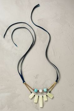 Ribbon Tie Necklace - anthropologie.eu