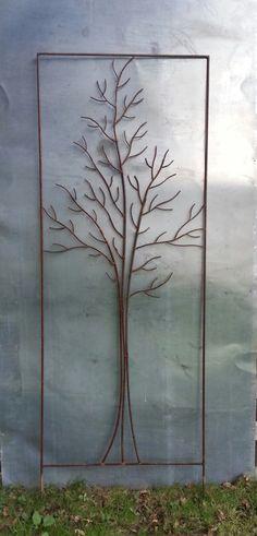 """tuteur de jardin,paravent à végétaliser, """"arbre"""" de métal : Sculptures, gravures, statues par du-metal-au-jardin"""