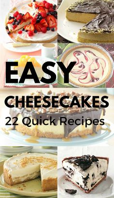 22 Easy Cheesecake Recipes from Taste of Home | Including: Banana Cream Cheesecake, Double Chocolate Almond Cheesecake, Simple Turtle Cheesecake, Black Forest Cheesecake, Arctic Orange Pie, Triple Berry No-Bake Cheesecake and more!