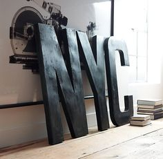 1930s French Shop Metal Letters