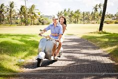 Bike away! | Wedding of Vivian and Howard | ExtraOrdinary Weddings | Photographed by Studio Impressions | #bali #outdoors #nature