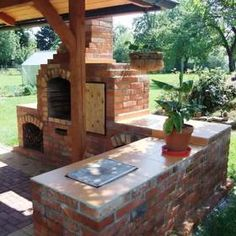 45 Comfy Diy Ideas For Upgrade Kitchen Outdoor To Try Asap Brick Built Bbq, Brick Bbq, Bbq World, Backyard Bbq Pit, Outdoor Grill Area, Outdoor Barbeque, Stone Bbq, Diy Outdoor Fireplace, Outdoor Cooking