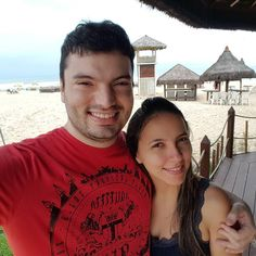 Um lindo dia de praia (nublado e sem sol é claro) com a melhor companhia! #MinhaGatinha #AmamosPraia #MasSemSol