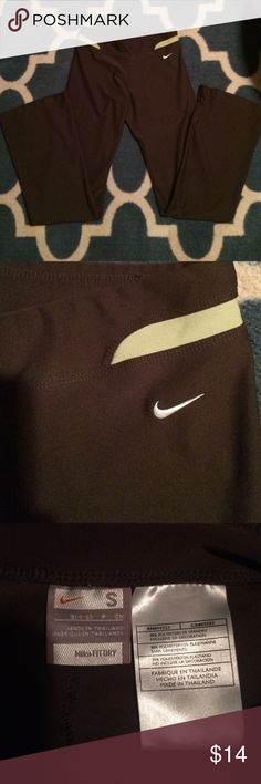 Nike pants Excellent condition. Beautiful army green color with light green trim no pockets Nike Pants