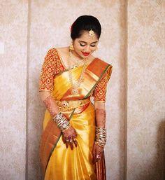 Pattu Sarees Wedding, Wedding Saree Blouse Designs, Best Blouse Designs, Pattu Saree Blouse Designs, Indian Bridal Sarees, Bridal Silk Saree, Silk Sarees, Drape Sarees, Kanjivaram Sarees