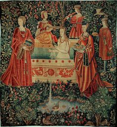 RENAISSANCE TAPESTRY 16TH   La vie seigneuriale - The life of the nobles: The bath. Loire valley workshop, 16th.   Musee du Moyen-Age(Cluny), Paris, France