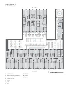 Dream Downtown Hotel2nd Floor Plan