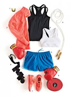 What to Wear to the Gym - Workout Wear for Women - ELLE 208 46 1 Clotheshorse Anonymous Fashionably Fit Meka I like this for everyday relax wear. Kick Boxing, Boxing Workout, Workout Wear, Boxing Girl, Fight Club, Karate, Fitness Wear Women, Estilo Fitness, Ju Jitsu