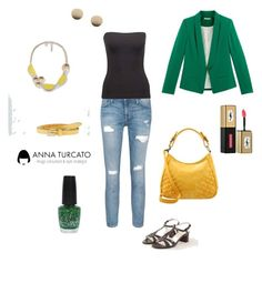 """""""Jeans Look"""" by annaturcato ❤ liked on Polyvore featuring Current/Elliott, Noisy May, Fritzi aus Preußen, Vanzetti, MANGO, ASOS and OPI"""