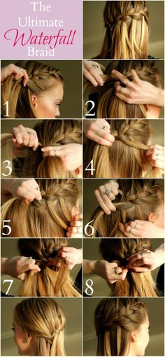 My Soul is the Sky: The Ultimate Waterfall Braid- LOVE this girl's blog! She does a little of everything!