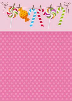 Help Festas e Personalizados: Convites Prontos - Candy Party