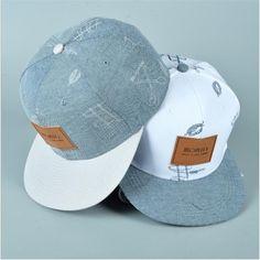 Nuevo de algodón de mezclilla sombrero de paño puesto letras frescas ocasionales de graffiti hip hop gorra de béisbol del snapback capsula los sombreros para mujer de los hombres hueso