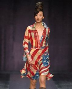 """Designer Catherine Malandrino rereleased her iconic """"Flag Dress"""" just for this year's election period."""