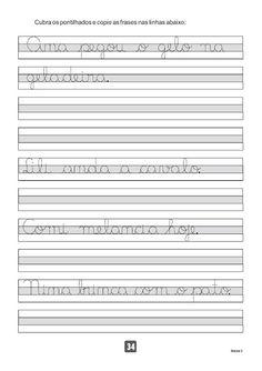 Atividades para Imprimir - Caderno de Caligrafia — Só Escola