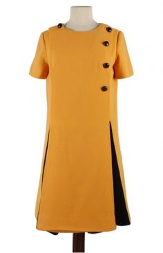 #EMILIOSCHUBERTH dress'60s http://www.madeinused.com/product/emilio-schuberth-dress-fabric-with-difect-60s/